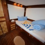 Doppelkabine Safariboot Blue Pearl