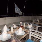 Restaurant bei Nach Tauchsafariboot MY Blue Seas