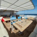 Loungebereich Tauchschiff MY Blue Seas