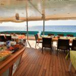 Buffetbereich Tauchschiff MY Carpe Novo