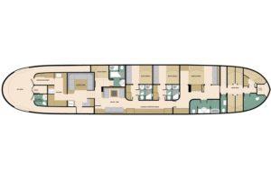 Deckplan Safarischiff Adelaar
