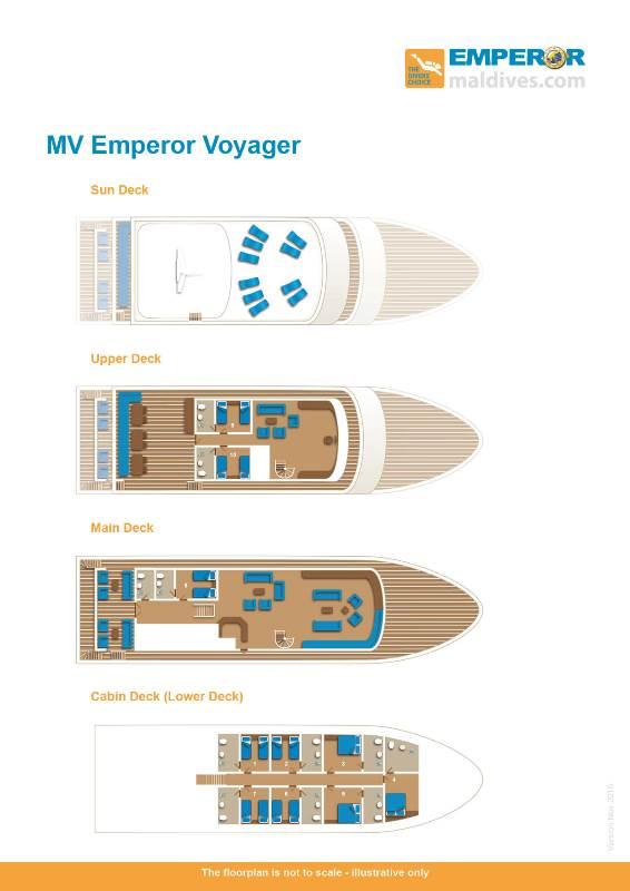 Deckplan Safarischiff Emperor Voyager