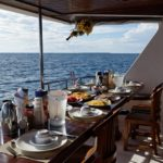 Frühstück Tauchboot MY Sheena