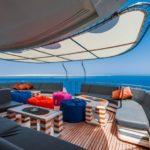 Sitzgruppe am Sonnendeck Tauchboot Golden Dolphin 3