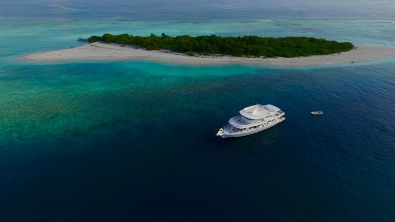 Tauchschiff mit Riff Eco Blue