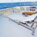 Heck Sonnendeck Safariboot Eco Blue