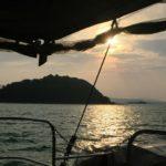 Sonnenuntergang Tauchschiff der The Phinisi