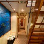 Treppe und Flur Tauchsafarischiff MV Argo