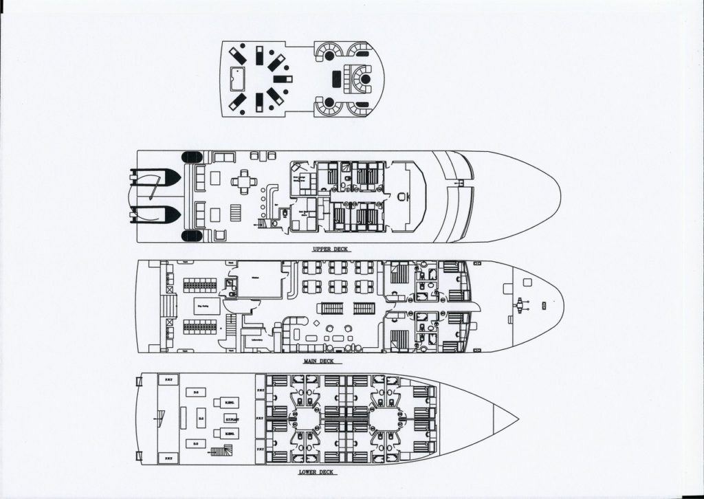 Kabinenplan Tauchboot Royal Evolution