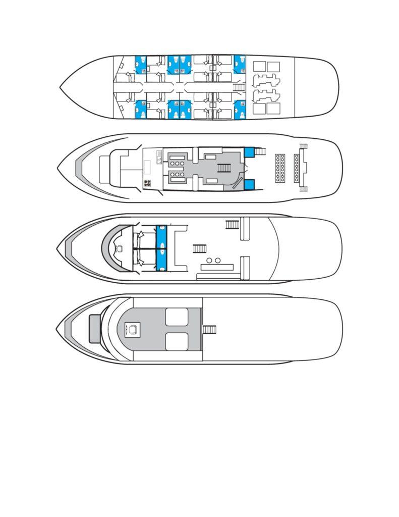 Kabinenplan Tauchboot Golden Dolphin 1