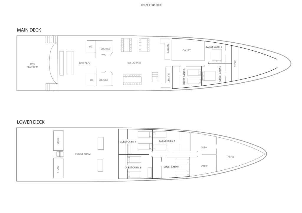 Schiffs-Layout Tauchschiff Red Sea Explorer
