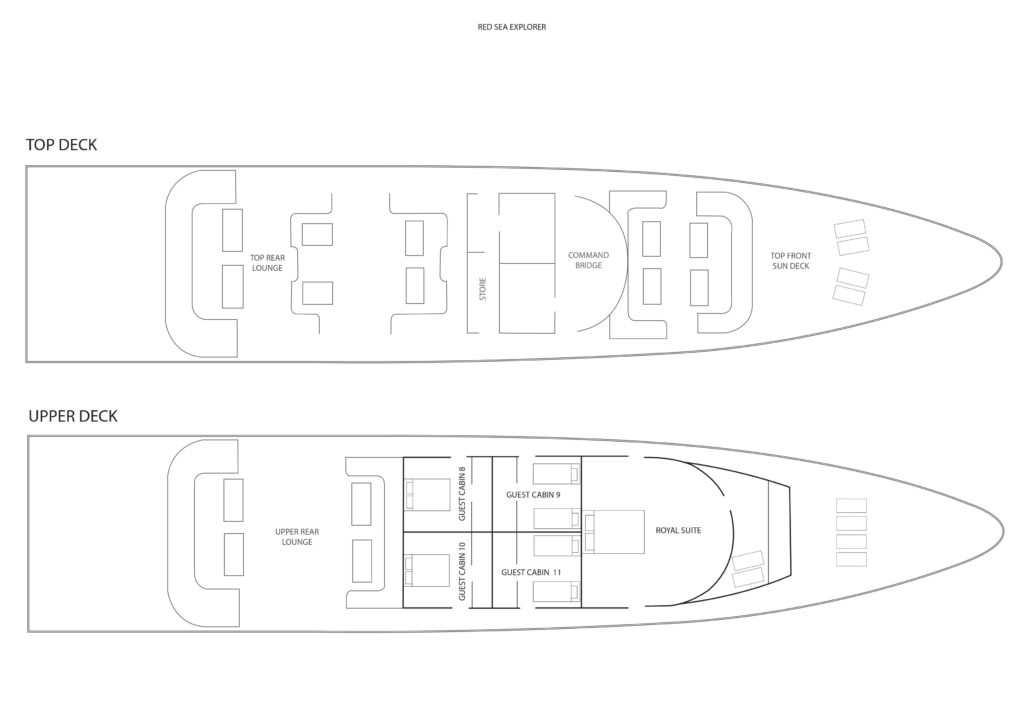 Schiffs-Layout Tauchboot Red Sea Explorer