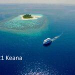 Drohnenbild mit Insel fern
